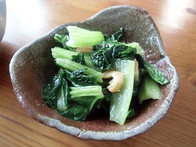 ビタミン菜の塩炒め