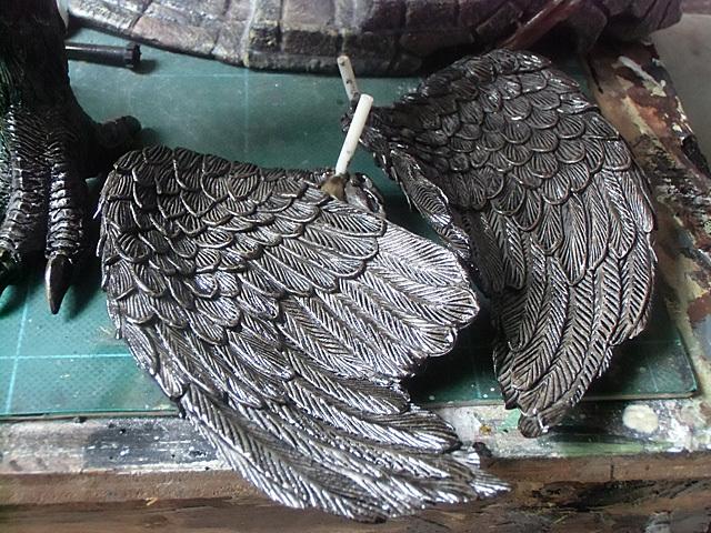 翼の塗り上がり