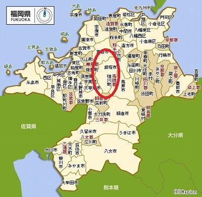 福岡地図 - 飯塚