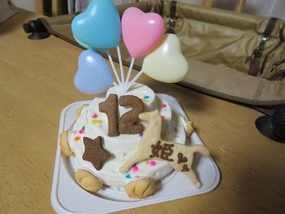 姫12歳のお誕生日ケーキ2
