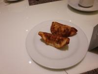 朝食の餃子