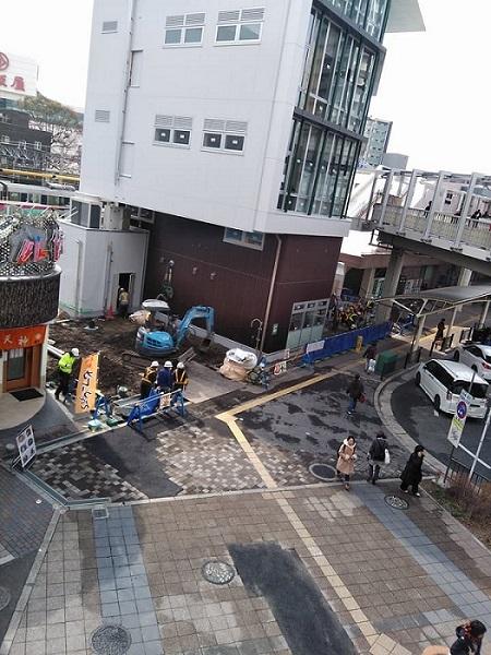 JR高槻駅前の商業ビル新築工事①20180219