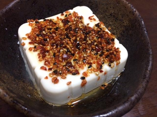 豆腐ラー油