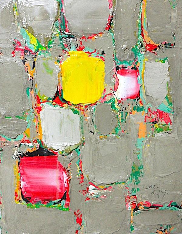Masahiro tsuji 「無題」アクリル、キャンバス、2108-2。