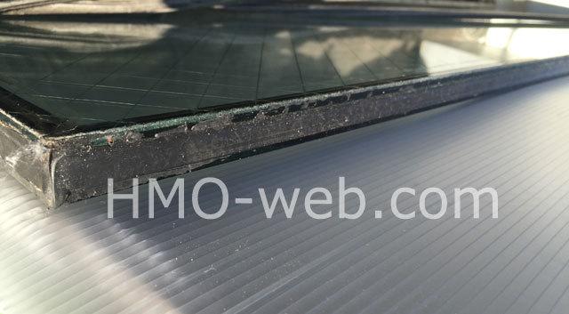 網入りガラスエッジ防錆処理