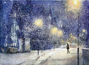 雪の街画像 (300x219)