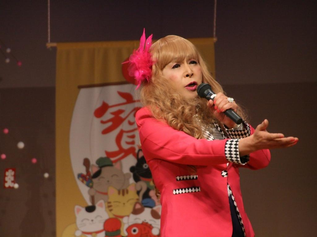 赤ジャケット紺マーメイドスカート舞台(14)