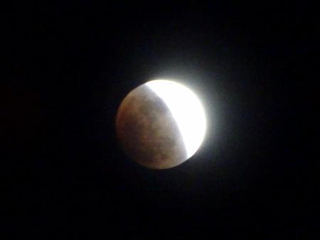 欠ける満月!皆既月食!