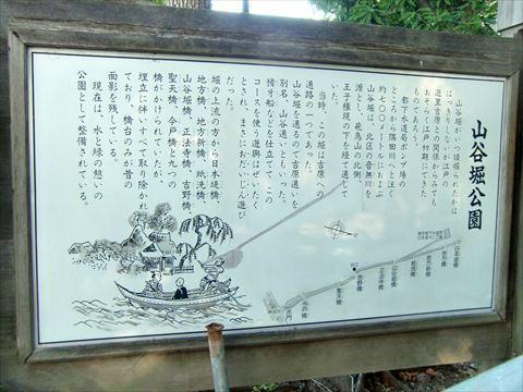 山谷堀の案内板