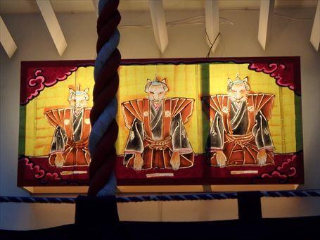歌舞伎稲荷神社の地口行燈 ②