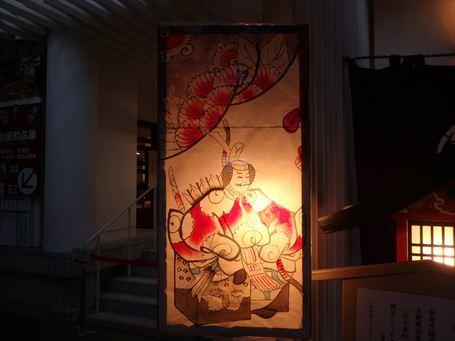 歌舞伎稲荷神社の地口行燈 ③