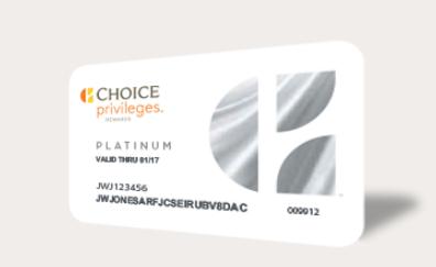 チョイスホテルズ(Choice Privileges) Gold&Platinumステータスマッチ1