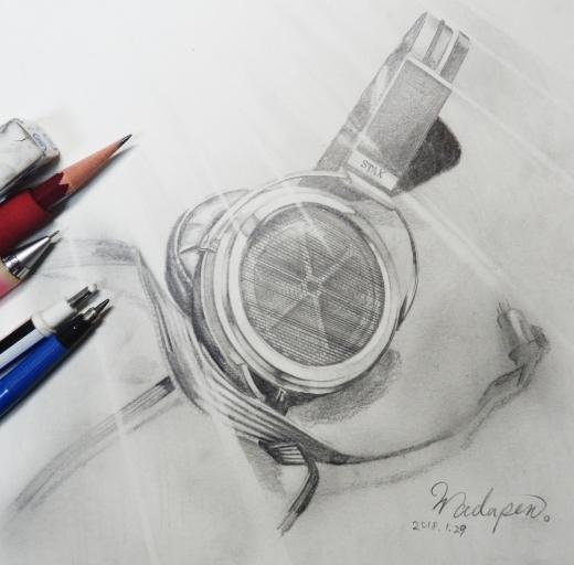 SR-009鉛筆画製作中