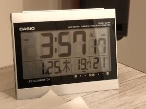 寒波の日の朝の室温
