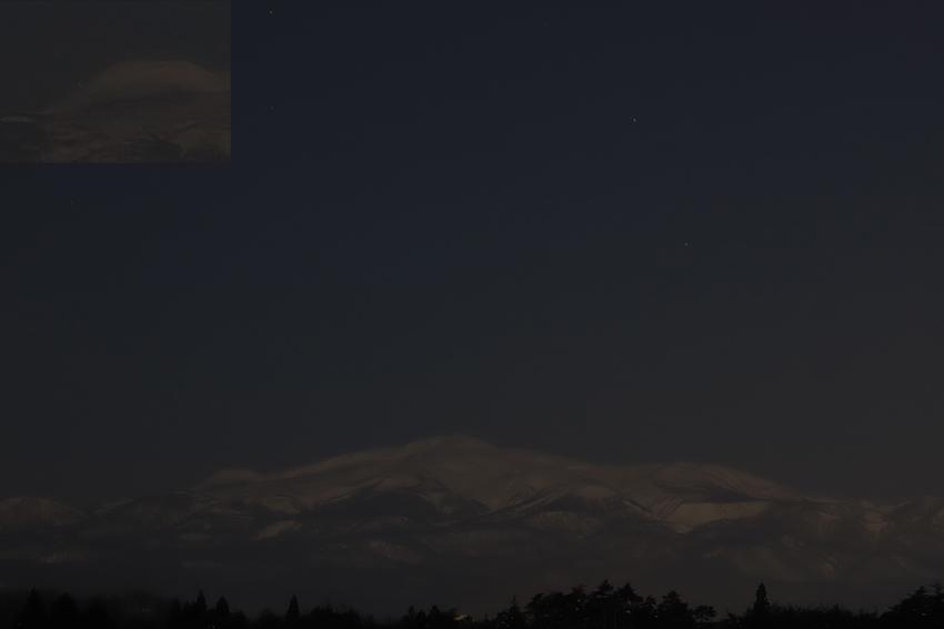 20180201栗駒山と沈む星