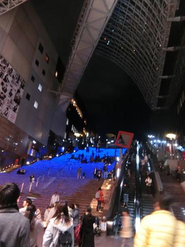 京都駅内吹き抜け! その2。