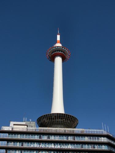 昼間の、京都タワー! UP!
