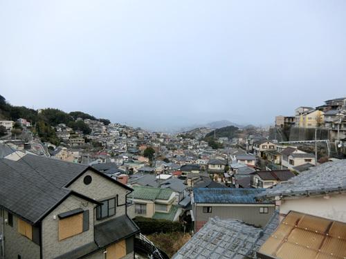 今朝の長崎はこんな空。
