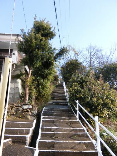 雪&工事中の階段、コワイ!コワイ!