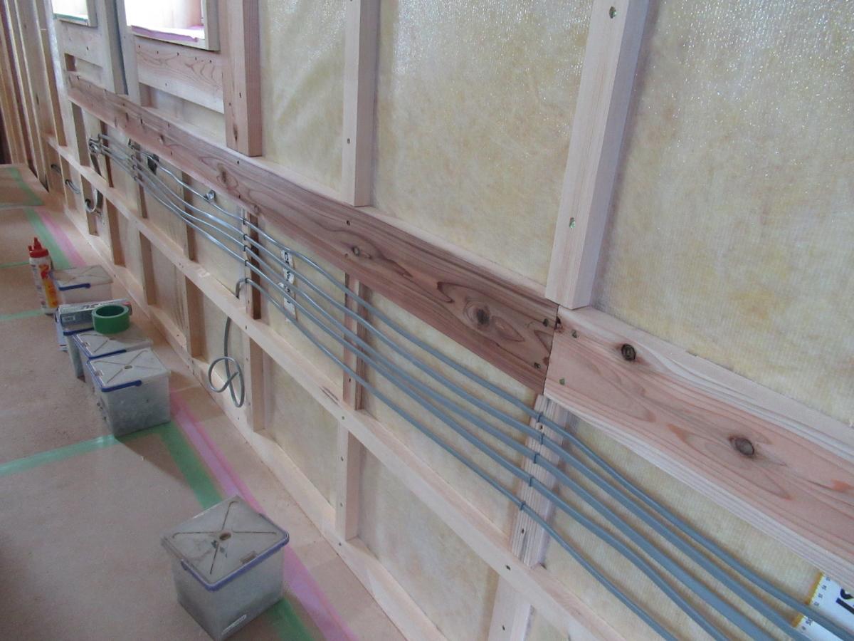 高断熱内壁配線施工