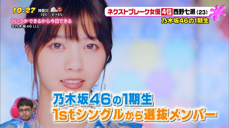 ネクストブレーク女優 西野七瀬2
