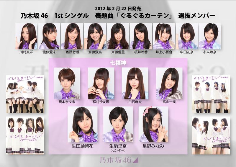 乃木坂46 1stシングル ぐるぐるカーテン フォーメーション