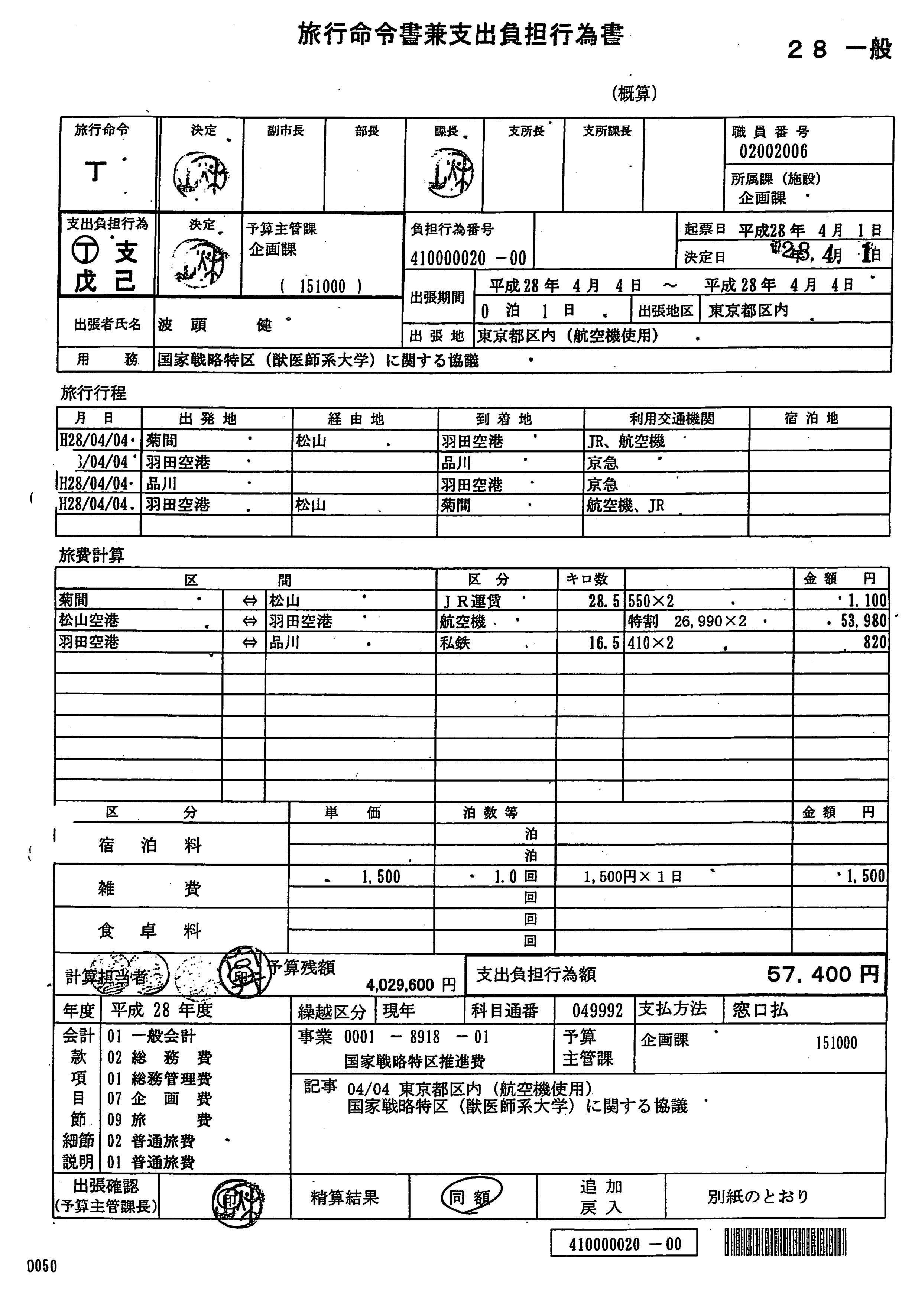 今治市 20160404東京出張 国家戦略特区(大学獣医学部の誘致等)に関する協議 (10)