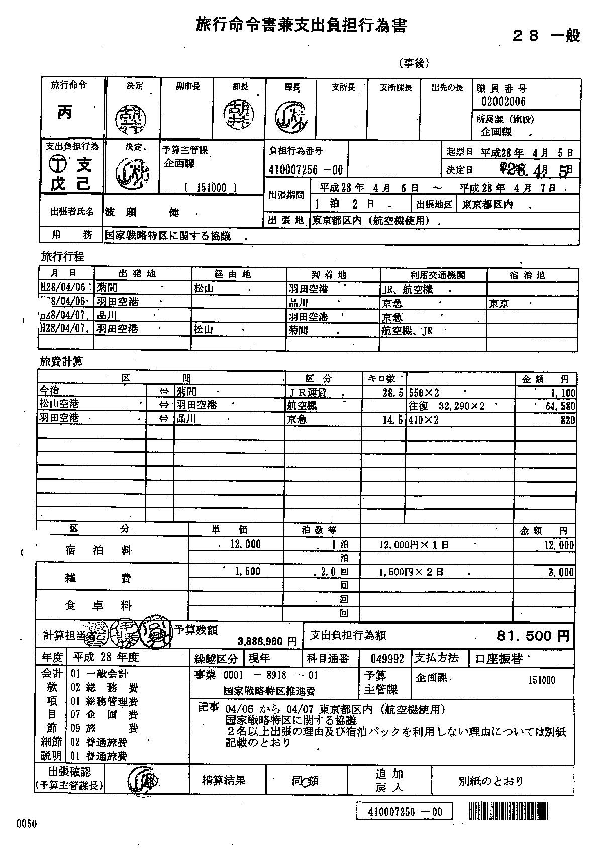 今治市 20160406-7 国家戦略特区連絡会議 国交副大臣面会 (94)