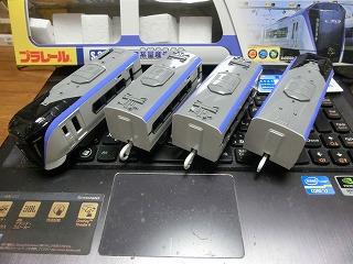 プラレール「E353系量産先行車」4両並び