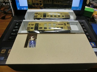 箱から出した状態の「JRKYUSHU SWEET TRAIN 或る列車」