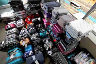 Many luggage at Kansai airport (2)
