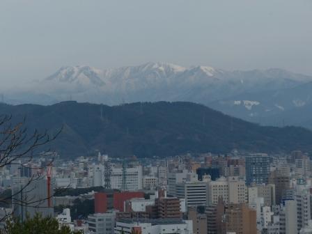 松山総合公園からの眺望 石鎚山 2