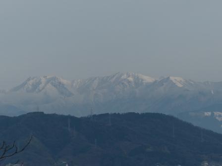 松山総合公園からの眺望 石鎚山 1
