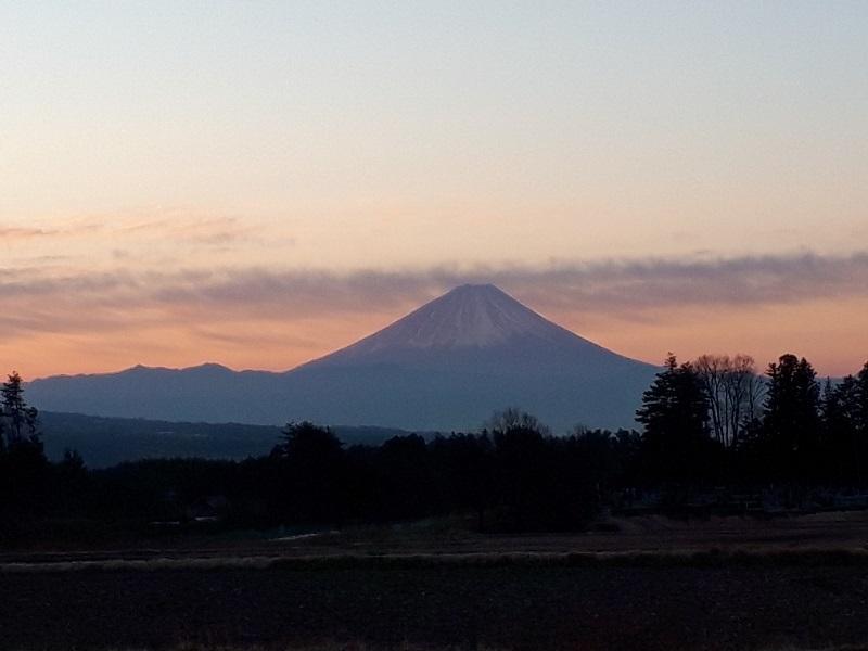 平成30年1月6日の弊社から見た富士山