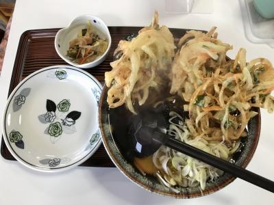 天ぷらそば(上から)