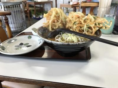 天ぷらそば(横から)