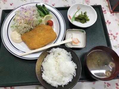 タラフライ定食
