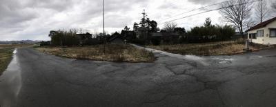 堀跡と思われる微低地