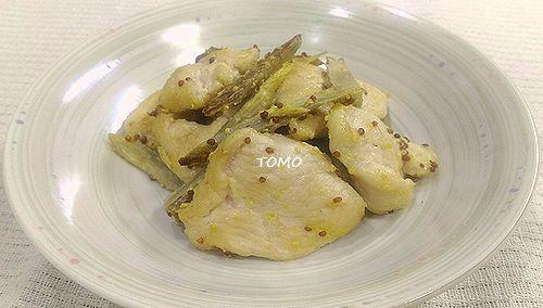 鶏肉とゴボウのマヨマスタード炒め