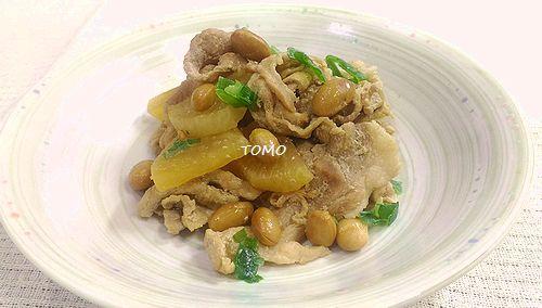 豚肉と福豆の醤油煮
