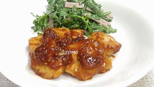 鶏胸肉の韓国風甘辛炒め