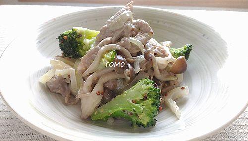 豚肉と玉ねぎのマヨマスタード炒め