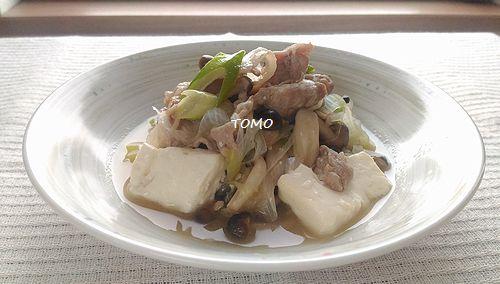 豚肉とお豆腐の中華煮