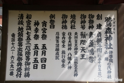 鷺森神社(左京区修学院薬師堂町)2
