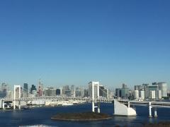東京タワーとレインボーブリッジ昼景