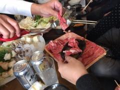 新年会の牛肉