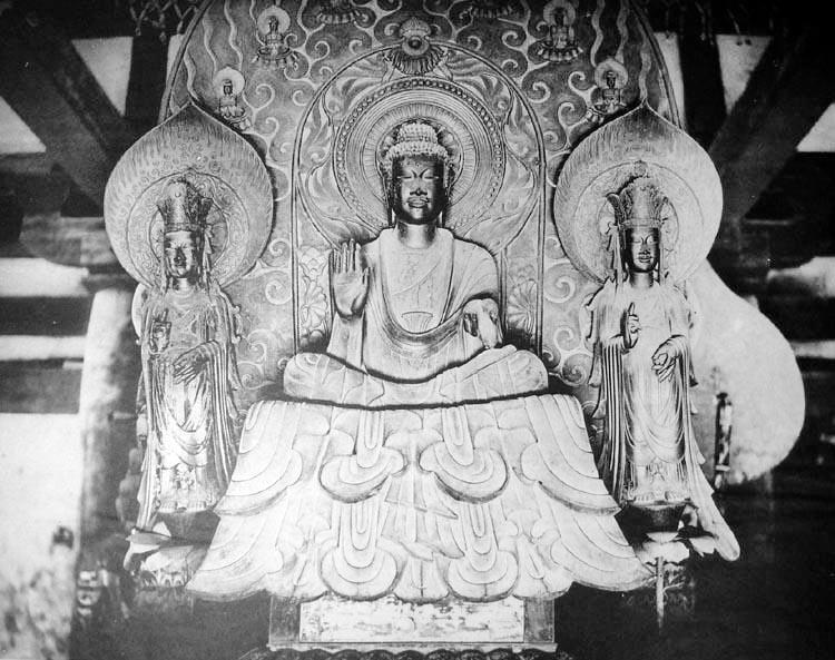 20180108法隆寺釈迦三尊像
