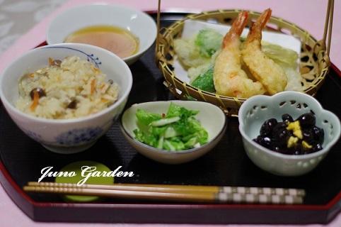 天ぷら定食180111