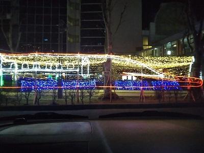 夜の秋田駅
