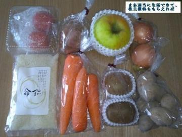 デリカフーズホールディングス 野菜セット優待内容02 201709